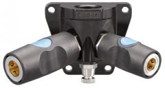 """Female threaded mixed double wall manifold - 3/8"""" Industrial and 1/4"""" Industrial Interchange"""