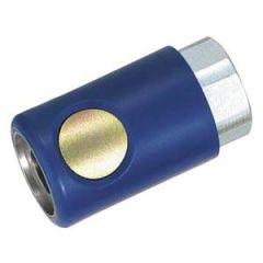 "Composite Push Button Socket ARO 210 Interchange Hose Couplings ( Male Pipe Thread) ,  ( 1/4"" Flow, One Way Shut-Off )"